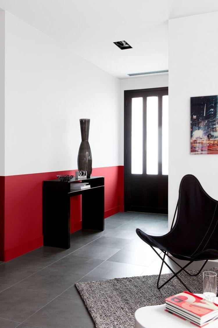 Un rouge franc et moderne   Entrée & couloir   Pinterest