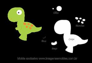 35 Moldes De Bichinhos Dinossauro Para Feltro Eva E
