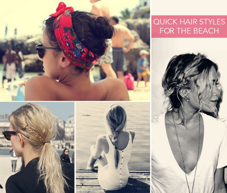 Excellent Cute Quick Beach Looks Hairstyles Summer Hair Nails Hairstyles For Women Draintrainus