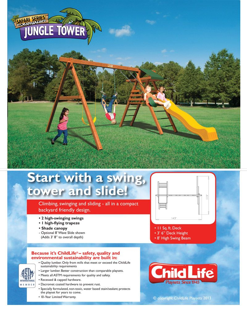 Swingsets Jungle Tower Childlife Playsets Kids Swingsets In