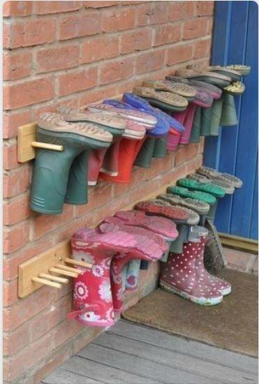 Pias Ryddige Hjorne Muddy Shoes Organisere Hjemmet Organisere Lagring