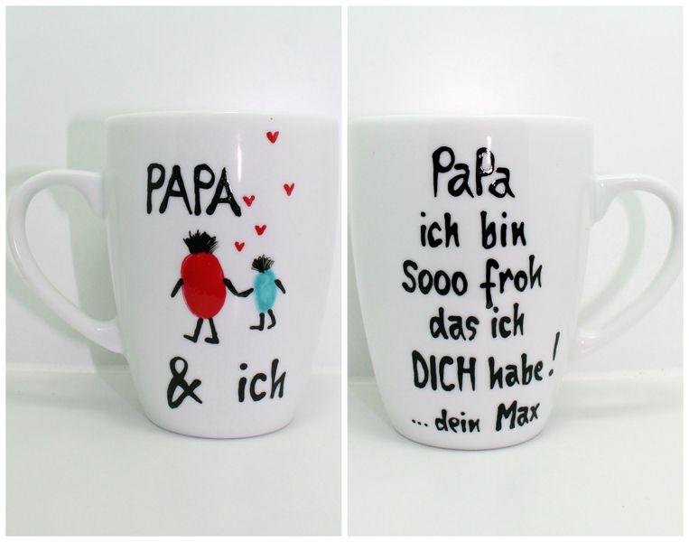 papa geschenk tasse geschenk vatertag f r papa von lovely cups auf. Black Bedroom Furniture Sets. Home Design Ideas