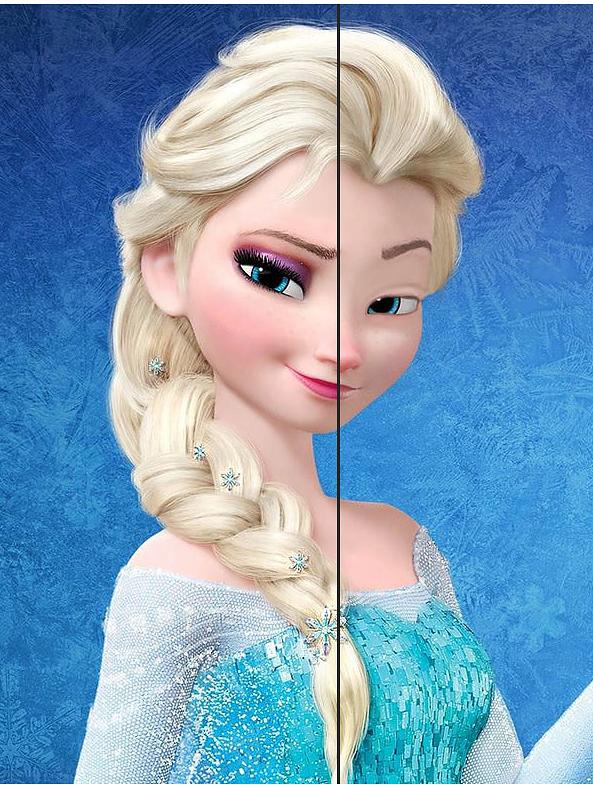 So sähen Disney-Prinzessinnen ohne Make-up aus | Disney prinzessin ...