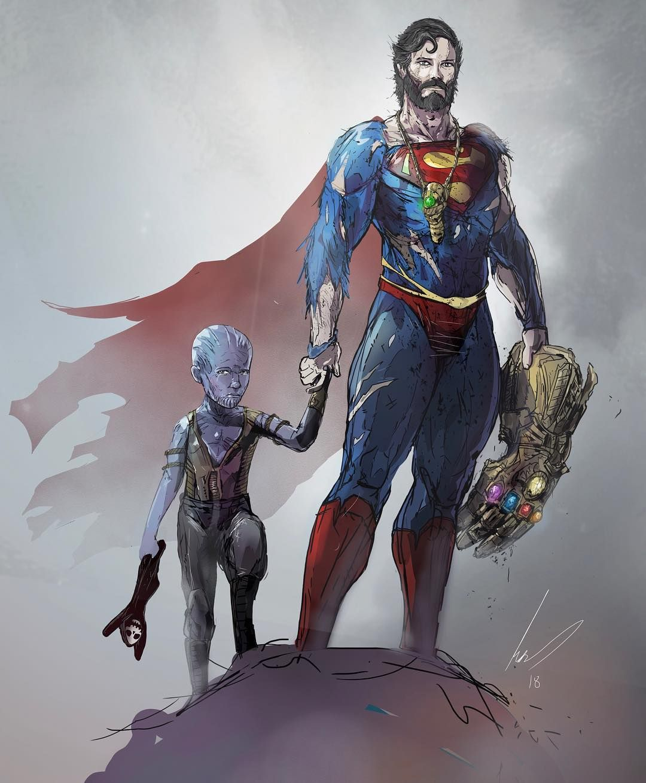 #Superman #Thanos By Mjhiblenart