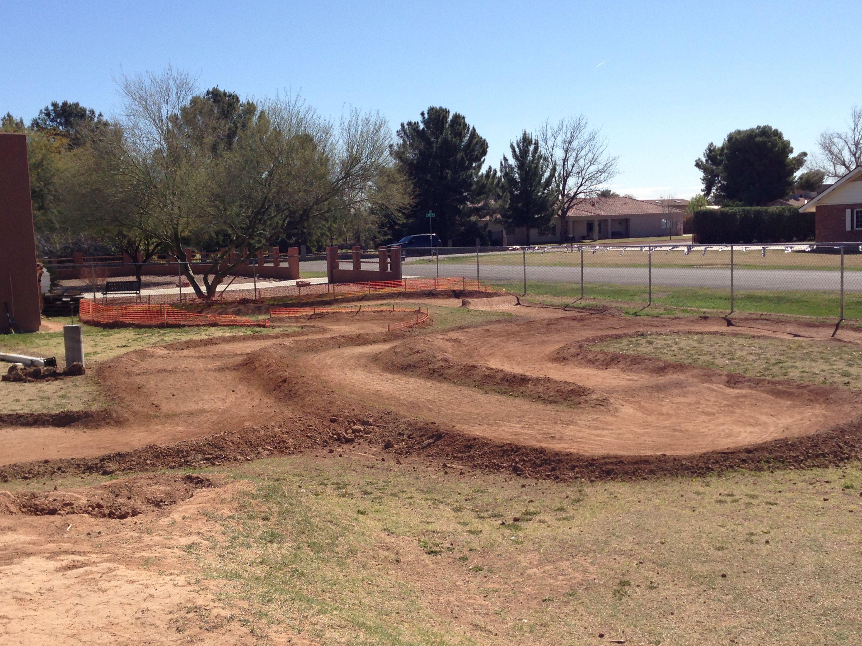 Backyard RC track Rc track, Backyard, Rc car track