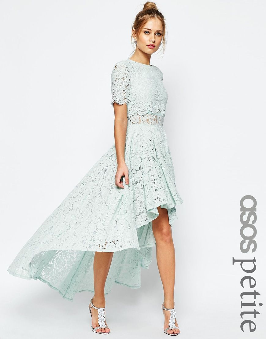 Image 1 of ASOS PETITE SALON Lace Dip Back Prom Midi Dress | clothes ...