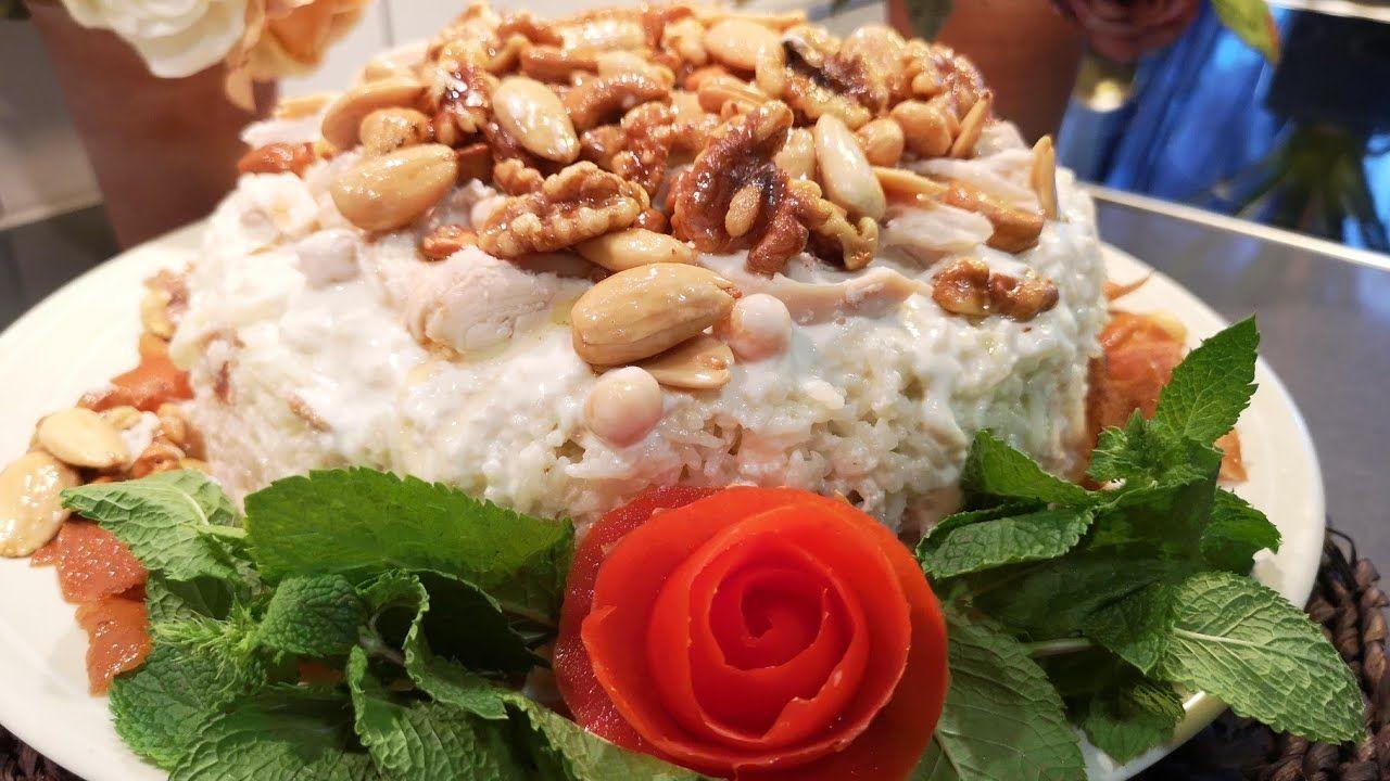 فتة الدجاج مع الأرز من أطيب الوصفات والطعمة ولا أروع جربوها رح تعجبكن Food Rice Cheese