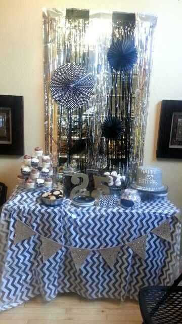 Black Gold White Party Decorations Came From Hobby Lobby
