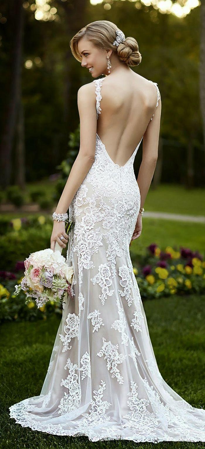romantische hochzeitskleider mit rückenausschnitt   Brautkleid ...