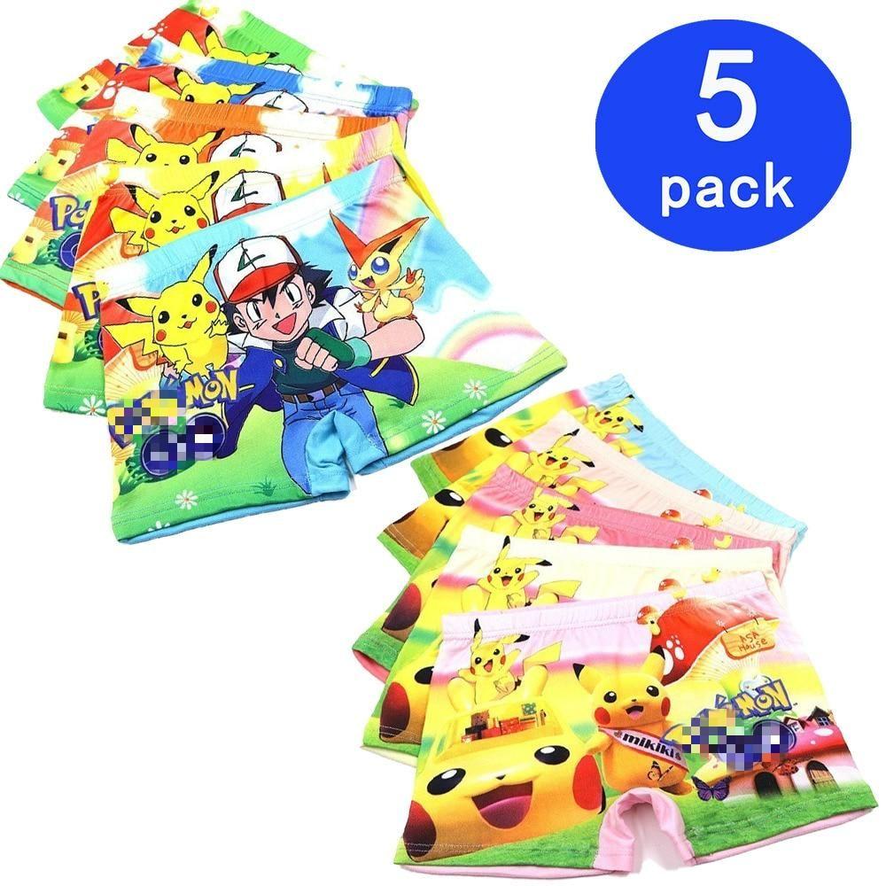 Pokemon Boys Briefs 8 NEW 5 Pack Sizes 4 6