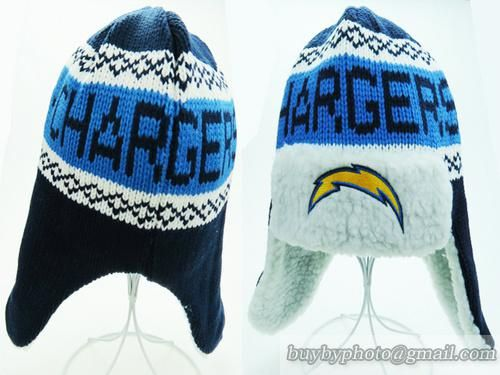 NFL Chargers San Diego Chargers Beanies Winter Hats Ear Flaps Caps ... 0e85aa0a905