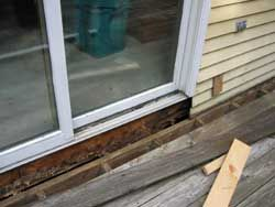 Wood Rot Is Frequently Found In Door Thresholds Kick
