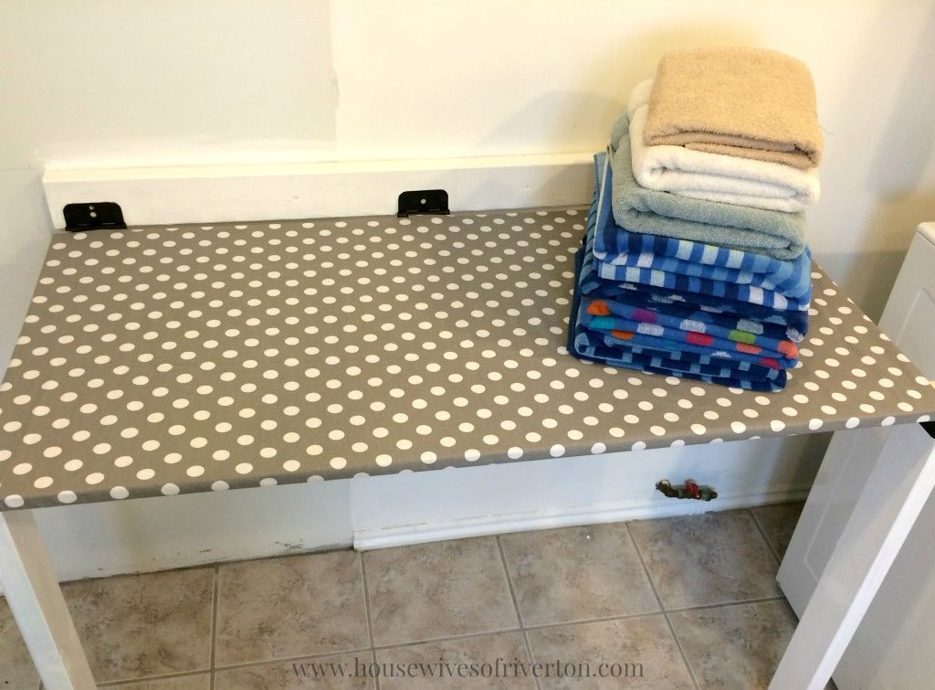 Diy Drop Down Laundry Table Laundry Table Room Storage Diy