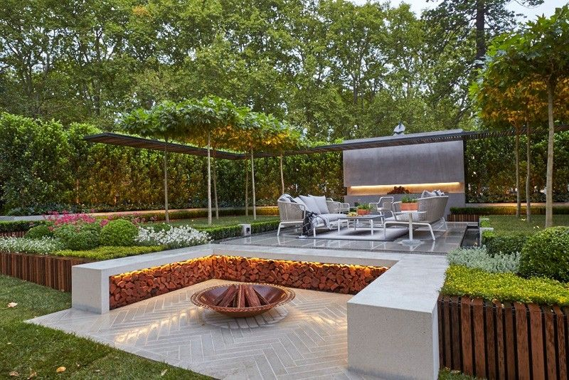 Outdoor Fire Pit Seating Ideas That Blend Looks And Function In Crazy Ways Outdoor Fire Pit Seating Contemporary Garden Design Fire Pit Seating