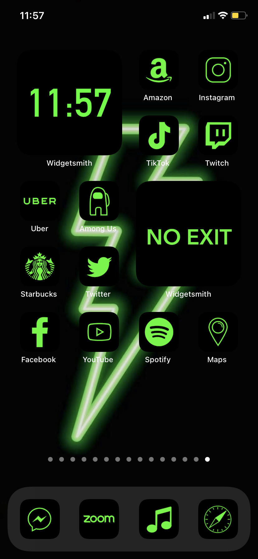 App Icons Green Neon Ios 14 Aesthetic Home Screen Green Lime Icons With Black Background Widgetsmith App Icon Ios Icon Homescreen Iphone