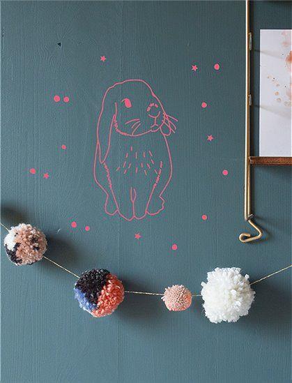 Wandsticker Hase von Mimi Lou - MIMI LOU CAR möbel | Kinder | Pinterest