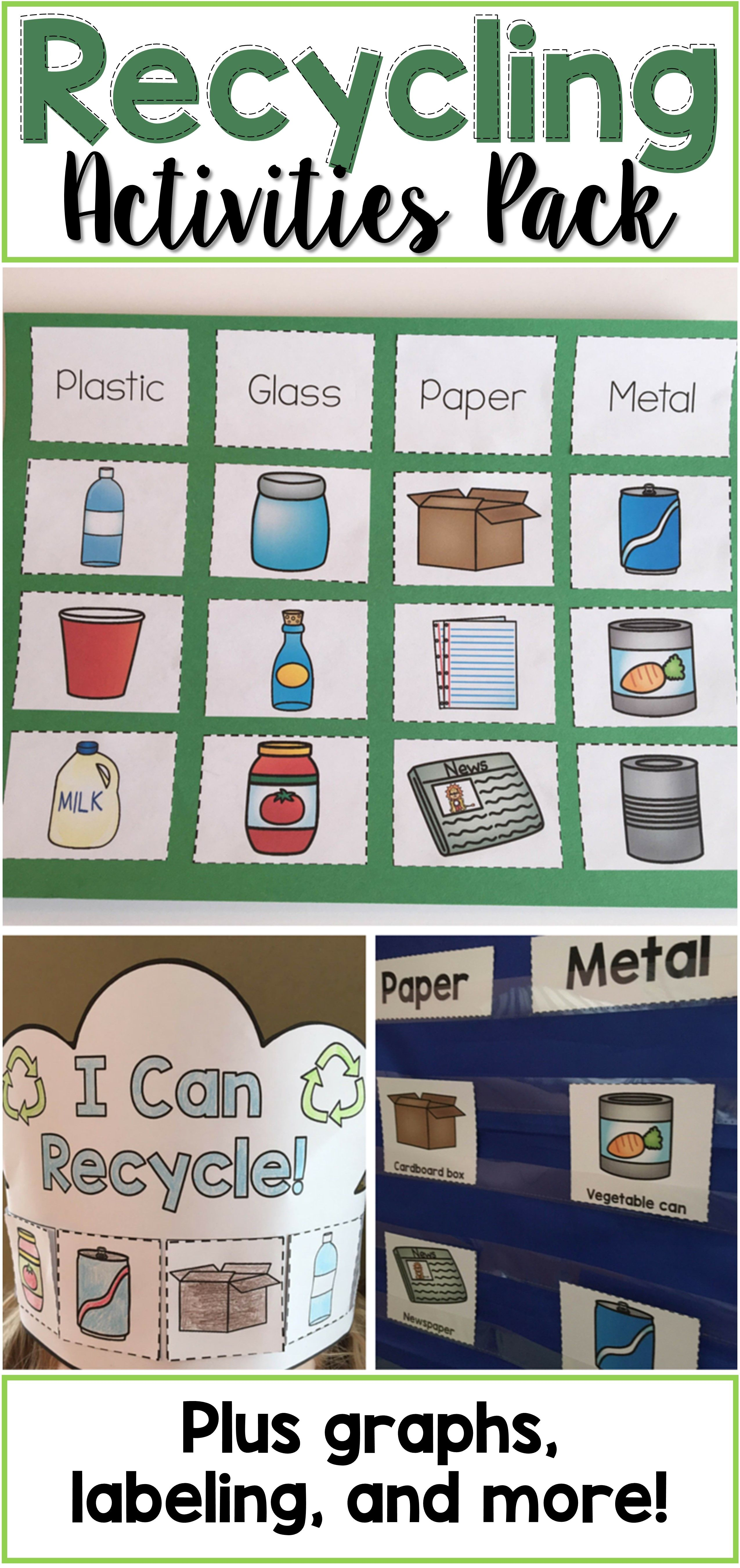 Recycling Activities Pack - This is the perfect addition to your recycling  or Earth Day unit! It includes a s…   Recycling activities [ 5400 x 2550 Pixel ]
