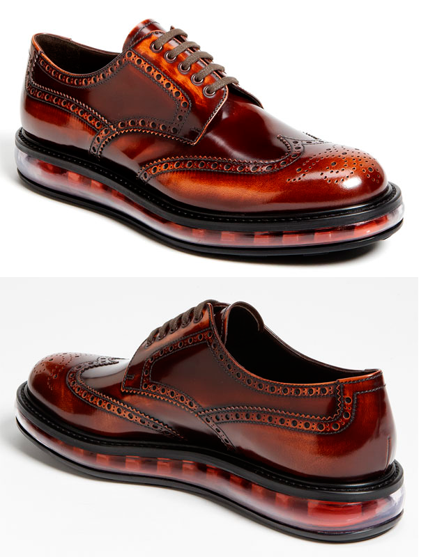 59edcdafa89220 Prada s Levitate Wingtip. Hybrid shoes