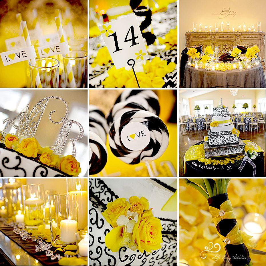 Black And Yellow Wedding Might Be Taking School Spirit A Little