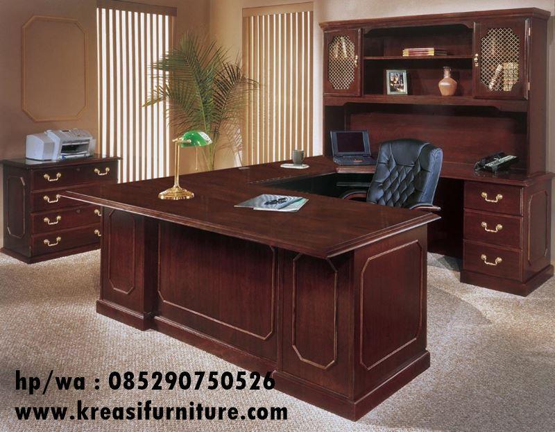 Meja Kerja Klasik Minimalis Jati Solid Kreasi Furniture Jepara Office Furniture Modern Executive Office Furniture Home Office Furniture Sets
