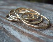 set of 2 rings - 16g stacking,   14kt gold filled,  Etsy jewelry , any size, even half and quarter