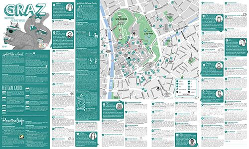 USEIT Graz City Map travel travellers tourist info City Maps