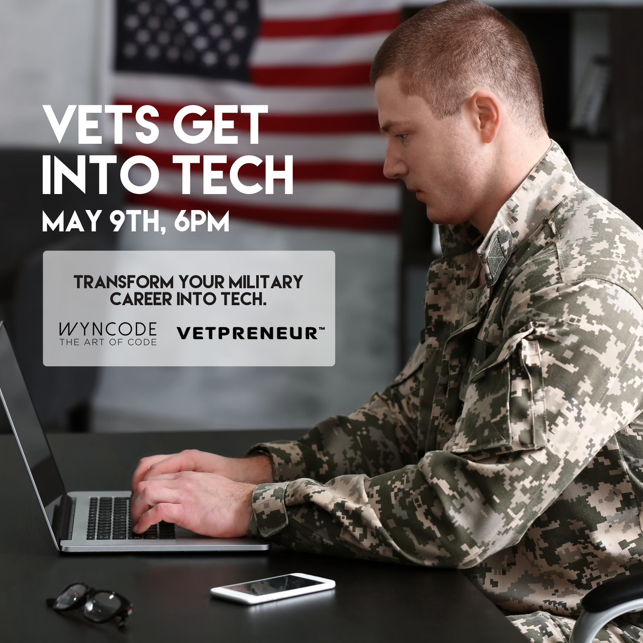 Vets Get Into Tech hosted with Vetpreneur Tech career
