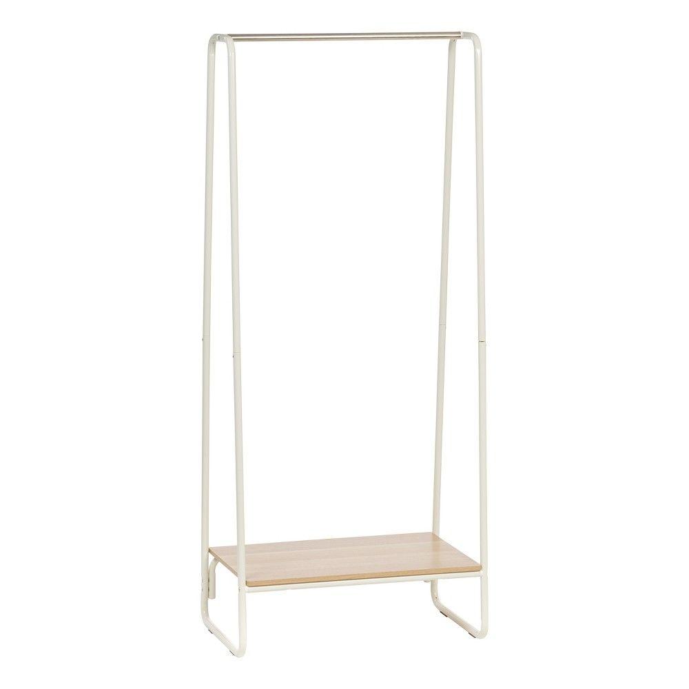 Iris garment rack with wood shelf white pinterest garment