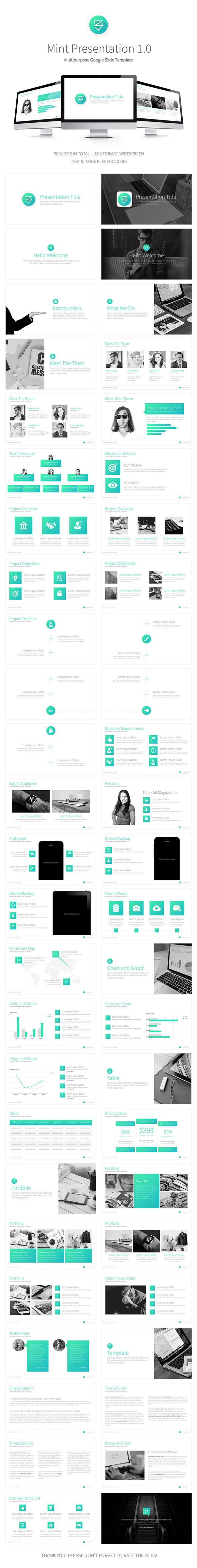Mint Google Multipurpose Presentation Template  Presentation