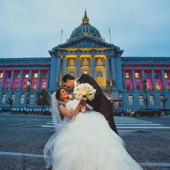 This adorable Persian couple got married at the San Francisco City Hall then had a reception at the SF Fairmont.