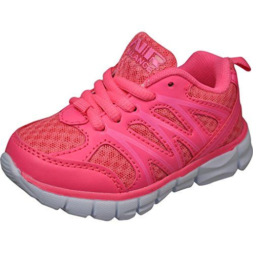 bf310104025f love those Air Balance Little Girls Lightweight Cross Trainer Shoes  -Fuchsia White