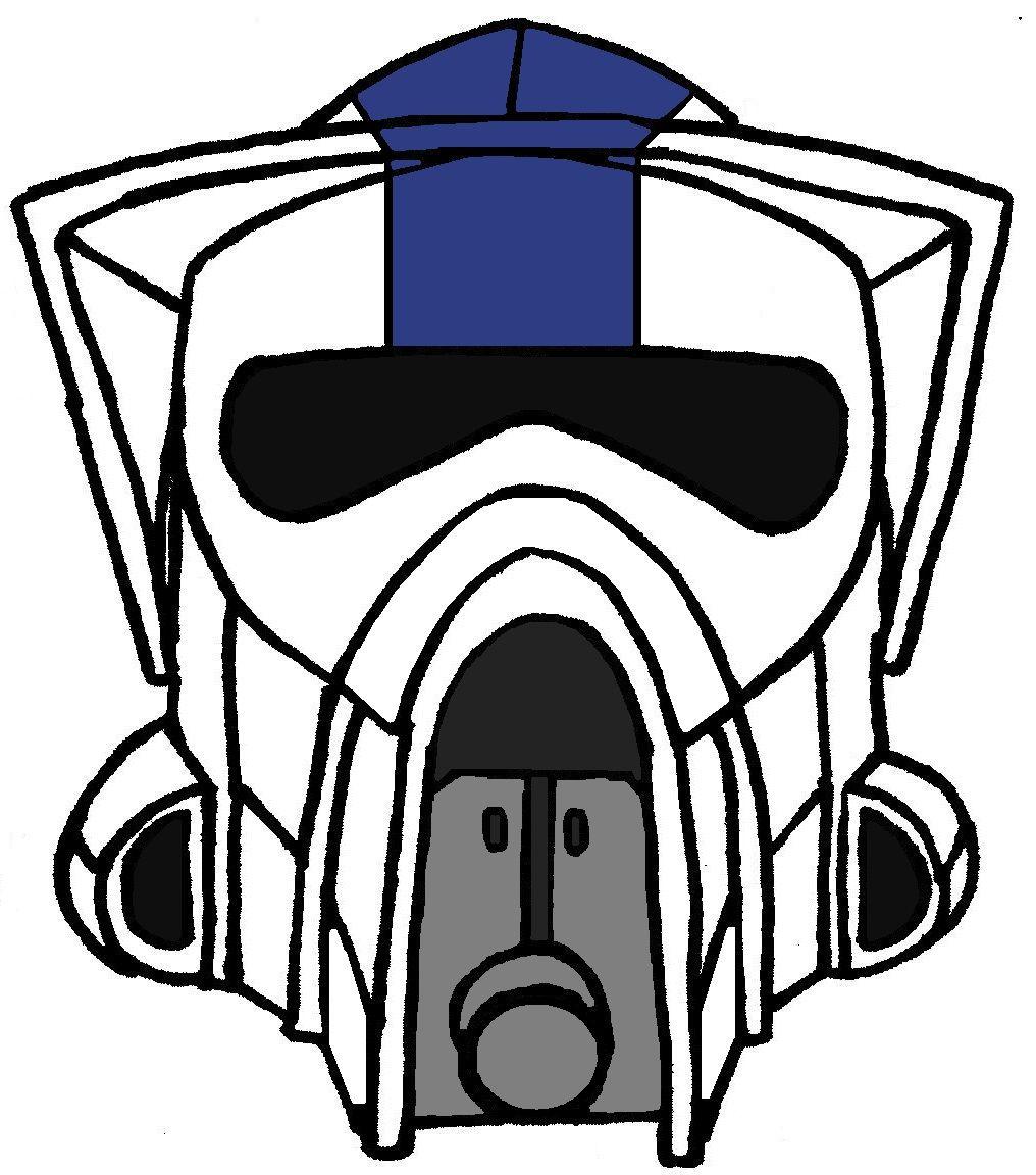 clone trooper helmet arf 501st legion 1 clone wars tv show