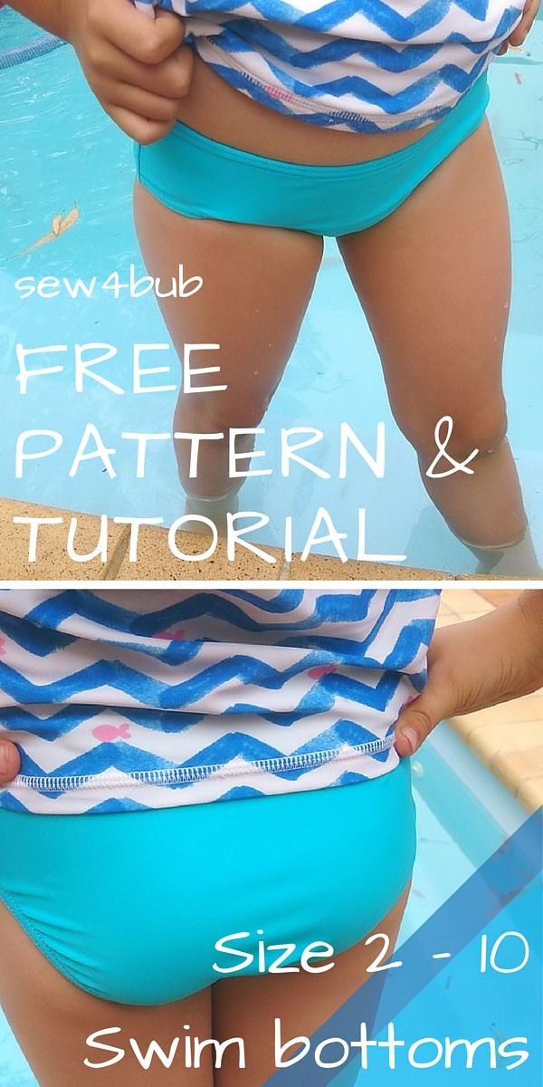 size-2-10-swim-bottoms-pattern-and-tutorial1 | Sewing for Children ...