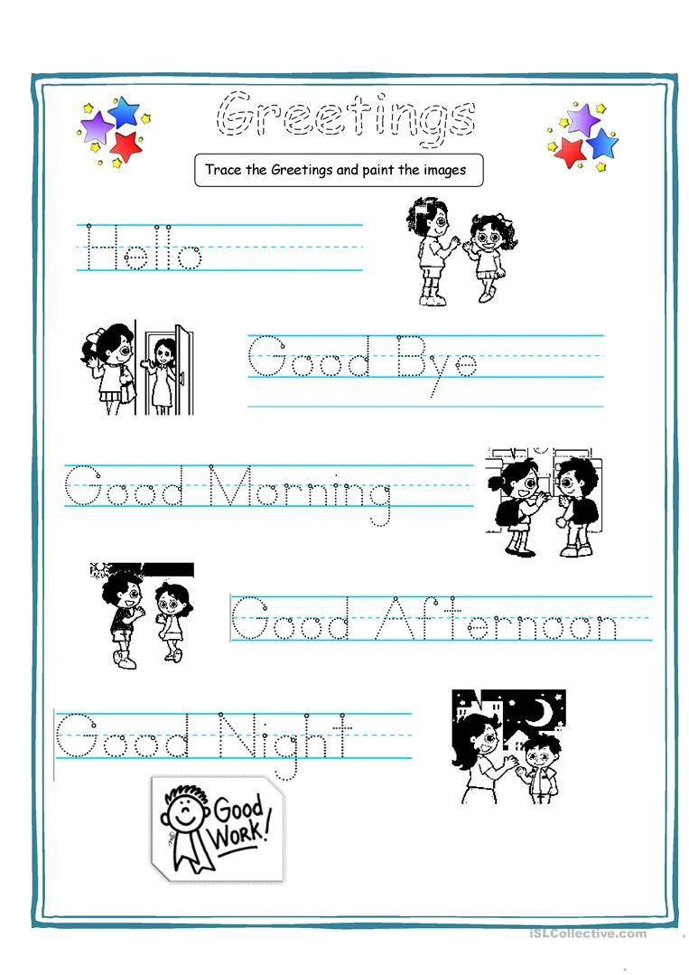 free printable esl worksheets for kindergarten