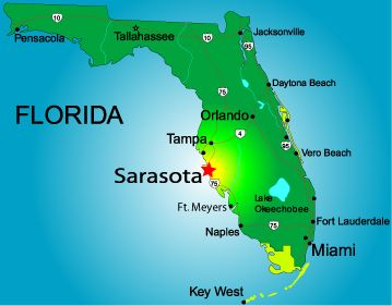 florida map with sarasota