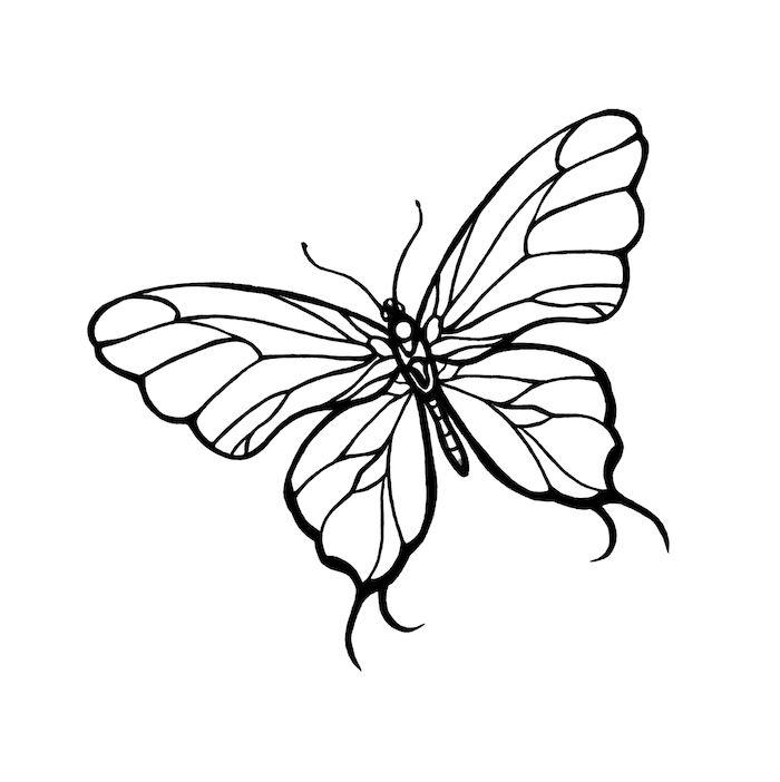 Ein Weisser Schoner Fliegender Schmetterling Mit Grossen Weissen Flugeln Idee Zum Thema Tatt Schmetterlingszeichnung Schmetterling Tattoo Tribal Schmetterling