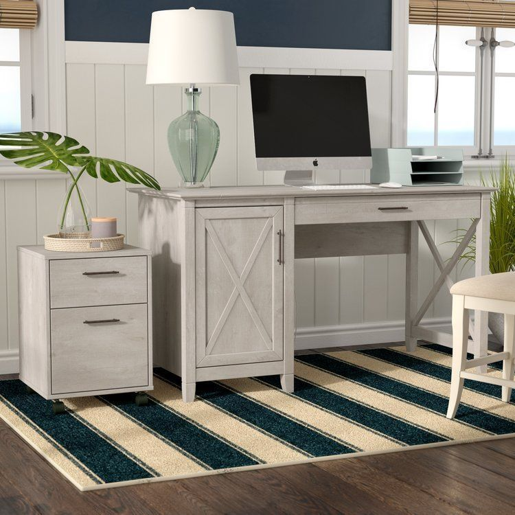 farmhouse computer desk with drawers