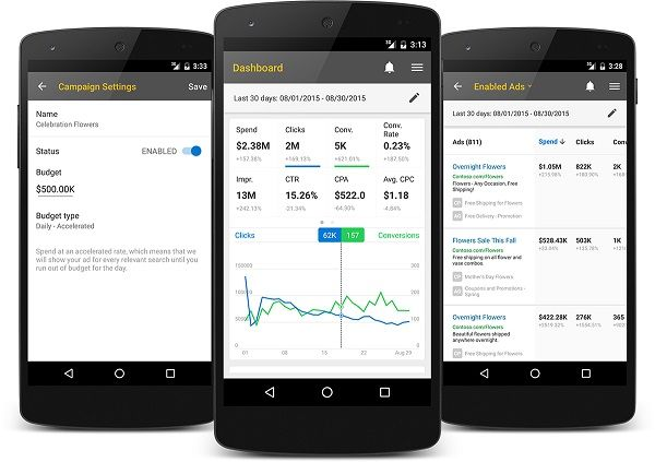 Microsoft launches Bing Ads app for Android Ad app, App, Ads