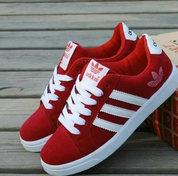 Red Adidas sneakers   New adidas