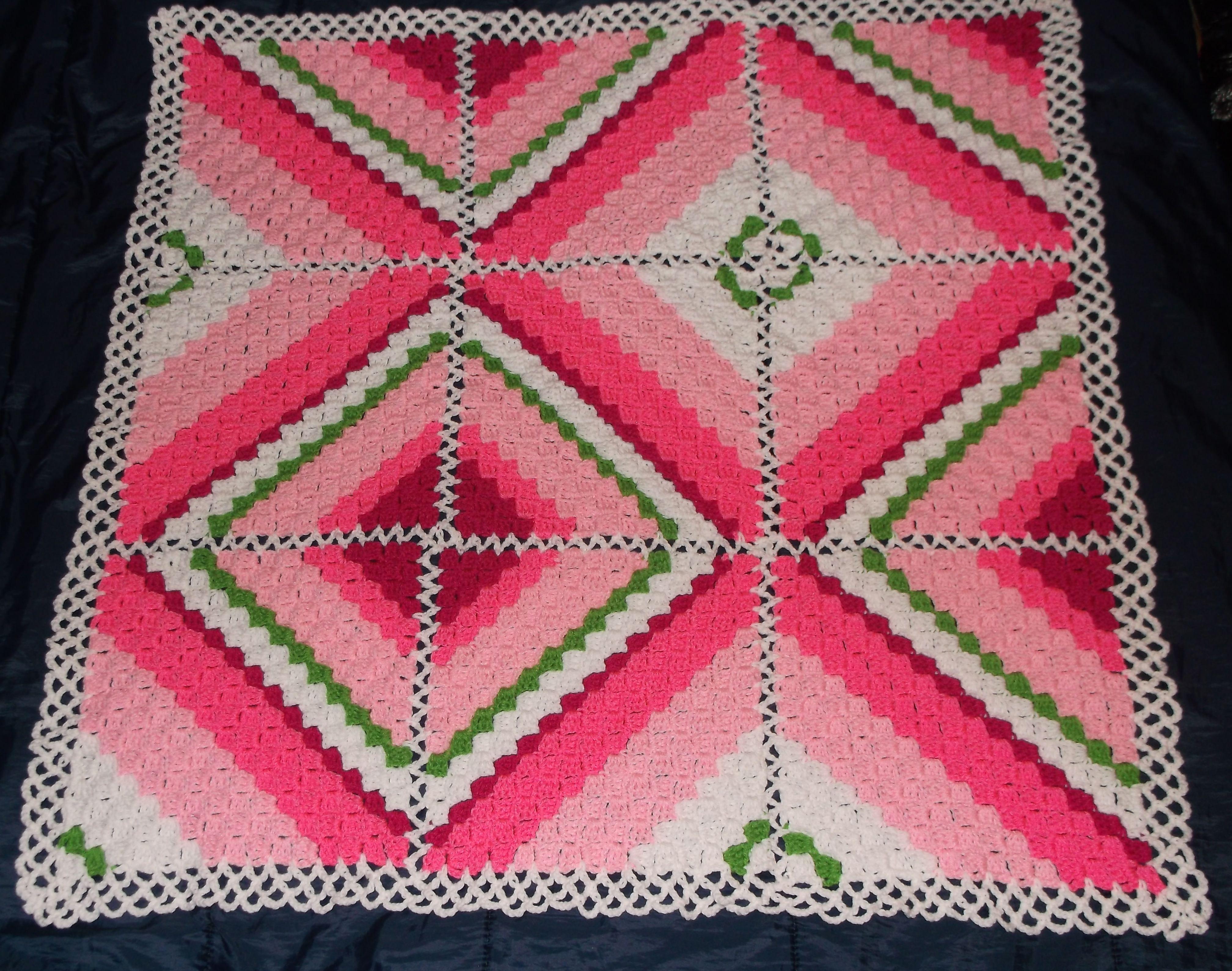 Corner 2 corner Squares crochet afghan   Crochet Afghans / Blankets ...