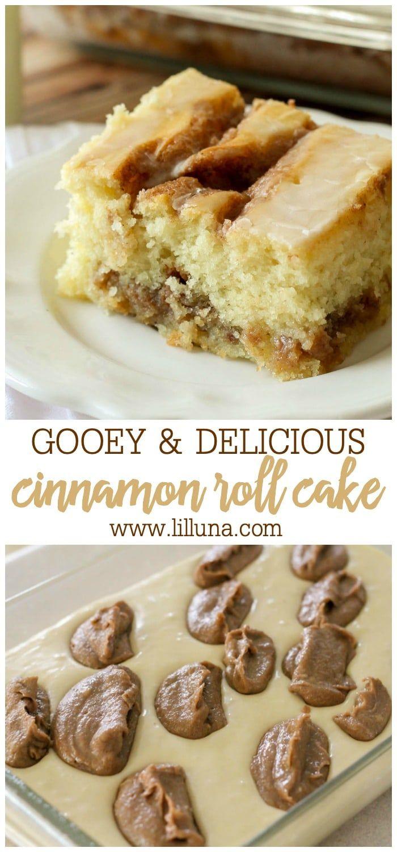 Easy Cinnamon Roll Cake (+VIDEO) | Lil' Luna