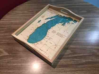Lake Michigan Serving Tray From Carrie Wiggins of Lake Art
