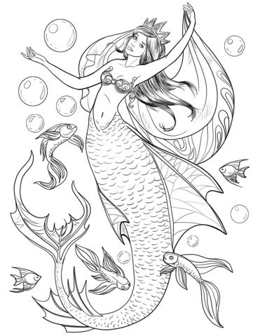 Mermaid Coloring Page Mermaid Coloring Pages Mermaid Coloring Coloring Book Art
