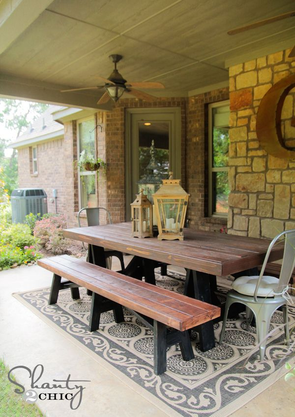 Diy meuble 34 meubles fabriquer soi m me pour votre for Meuble terrasse exterieur