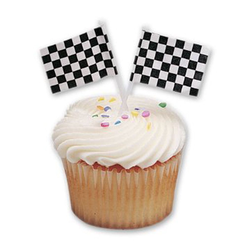 Chequered Flag Cake Topper