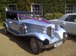 A Vintage Style 7 Seat Bramwith Wedding Car For Hire In Swindon