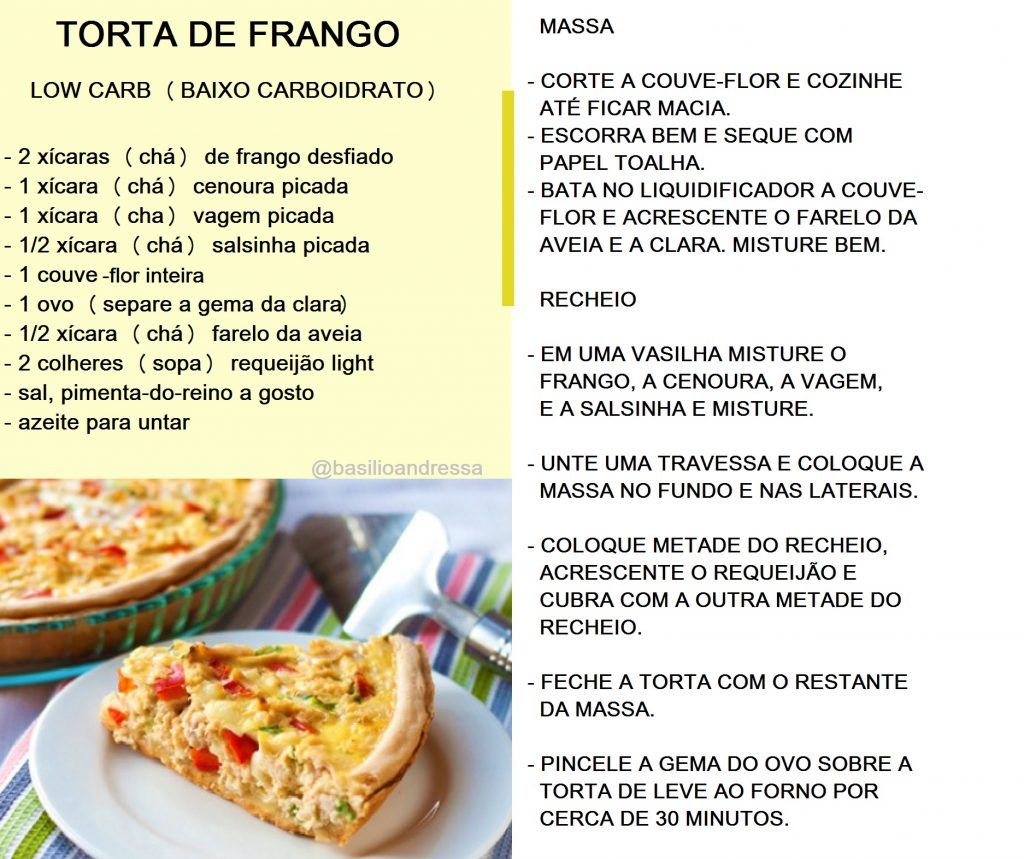 Torta de frango low carb
