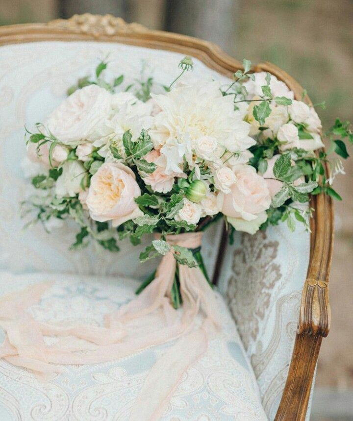 13 Lush Spring Wedding Decorations To Bring To Life Your: Lush Wedding Bouquet Featuring: Pastel Peach + Cream