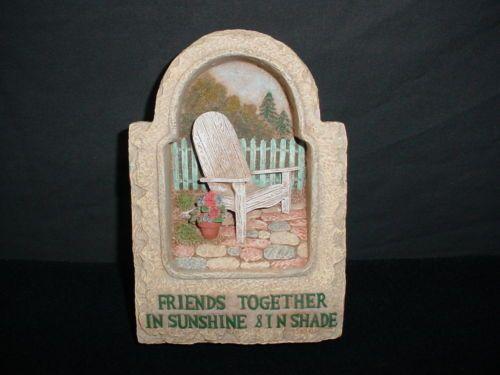Jim Shore Friends Together Wall Hanging Plaque Garden Artistry 2001 Enesco   eBay