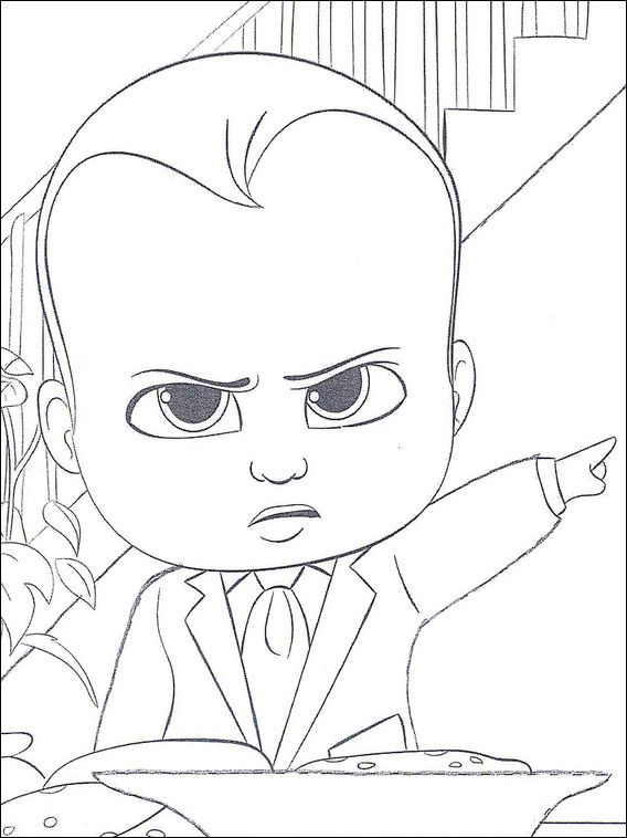 Boss Baby Coloring Pages 1 Baby Coloring Pages Boss Baby Cartoon Coloring Pages